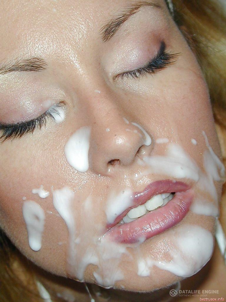 СПЕРМА НА ЛИЦЕ: порно видео как кончают девушкам на лицо