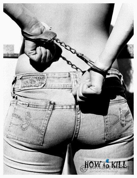 Секс девушка в наручниках для
